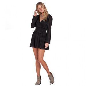 Lady Gauza Black Long Sleeves Dress